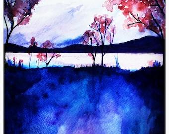 Autumn Morning A3 Print