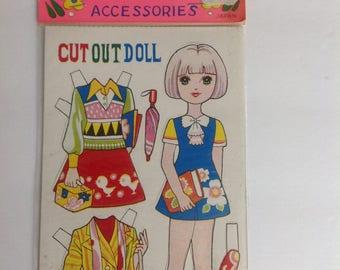 Vintage 1960s Paper Dolls Japan
