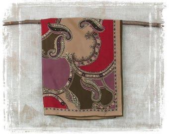Vintage Oscar De La Renta Scarf, Silk Scarf, Designer Scarf, Paisley Scarf