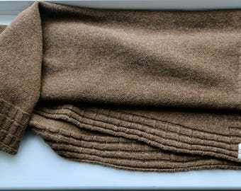 Blanket knitted from pure Manx Loaghtan wool