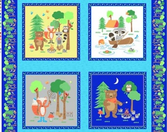 Camping Club Panel from Blank Quilting