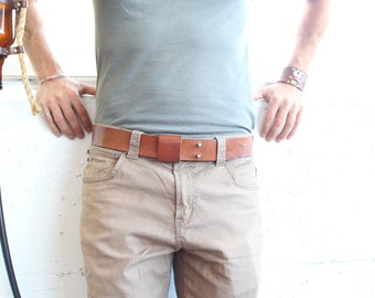 The Everyday Belt - Handmade Leather - Tan