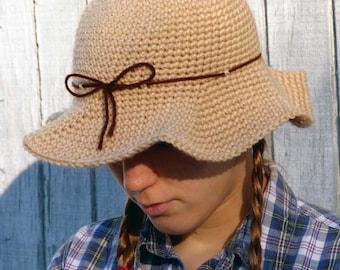 Scarecrow Hat (5 Sizes) - PDF Crochet Pattern - Instant Download