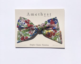 Floral Hair Bow // Wildflower // Oversize Floral Bow // Floral Bow Headband //
