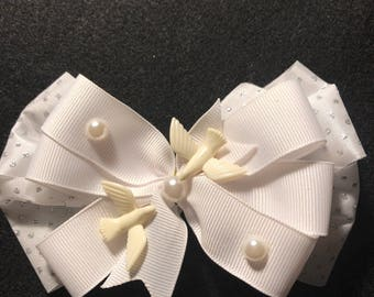 Wedding Doves Hair Bow
