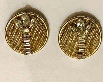 Hattie Carnegie Designer Signed Earrings