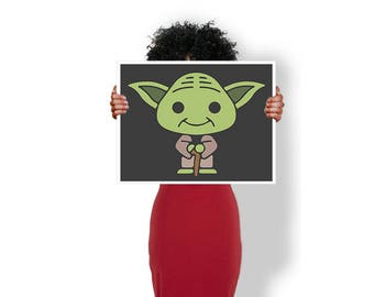 Yoda Star wars - Art Print / Poster / Cool Art - Any Size