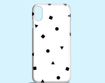Black and White shapes phone case / iPhone X / iPhone 8 / 8 Plus / iPhone 7 / 7 Plus / iPhone 6/6S / iPhone 5/5S/SE / Samsung Galaxy