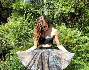 Galaxy print natural  coloured circle skirt