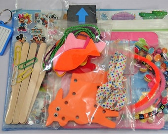 8 Activities Busy Bag For Toddler - Set A