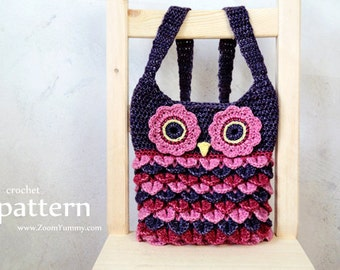 Crochet Pattern - Crochet Owl Purse With Feathers (Pattern No. 067) - INSTANT DIGITAL DOWNLOAD