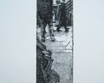 Waiting (Original Collagraph Hand Pulled Artists Print)