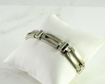 """Sterling  Silver Elongated Link Bracelet (7 1/4"""")"""