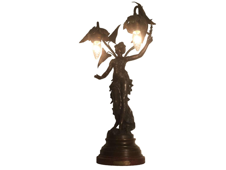 Auguste Moreau Fruits D Automne Art Nouveau Bronze Maiden