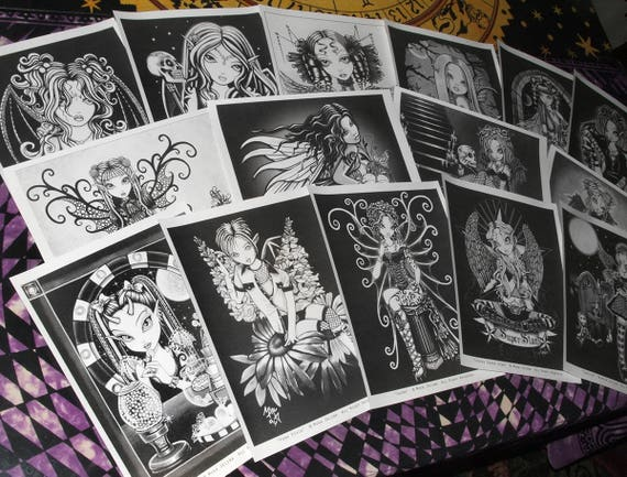 Gothic Coloring Pages For Adults : Set pages free us shipping classic collection one