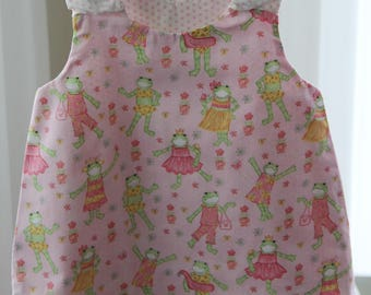 Reversible pink frog princess size 3 sundress