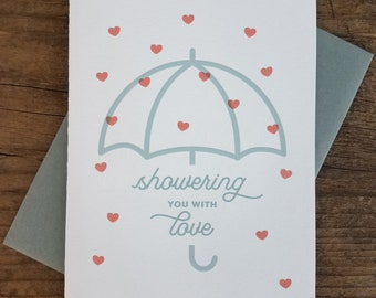 Showering You With Love Letterpress Card