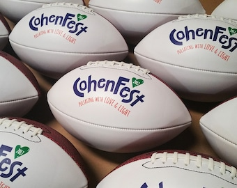 Personalized Football with Logo and One line of Text. Player Name, Team Motto, Coaches Name on Custom Football. Football for Coaches Gift.