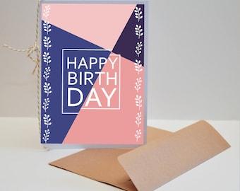 A Classic Birthday Card - Colorful Happy Birthday Card - Modern Birthday Card - A Special Birthday Card - Birthday Celebration Cards