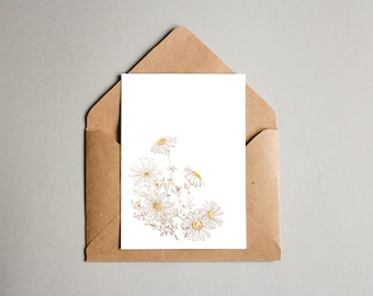 A6 Botany Greeting Card - Chamomile