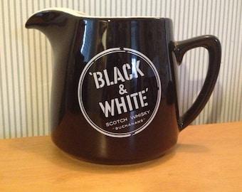 Vintage Wade Regicor Black and White Scotch Whisky Bar Water Jug