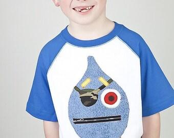 Size 6 7 Ricky the Raindrop Pirate Applique Shirt One Size Left Ready to Ship Boys Raglan Shirt Big Boy Shirt