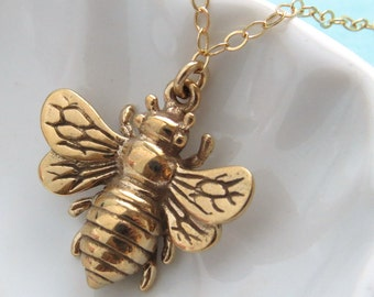 Honey Bee collier Queen Bee bijoux superposition collier Bee amateur amoureux de la Nature Inspire Honey Bee bijoux superposition collier en couches et Long