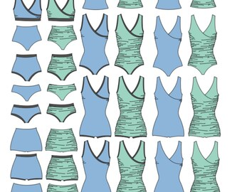 Swimsuit PDF Sewing Pattern First Crush Swimsuit Swim pattern PDF pattern crossover swimsuit nursing friendly swim sewing pattern