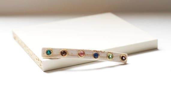 Multi Color Slim Hair Clip Barrette