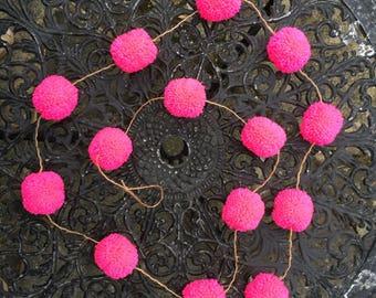 Pink Pom Pom Garland.