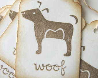 Woof Dog Gift Tags