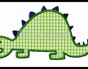 Stegosaurus Dinosaur Applique Design
