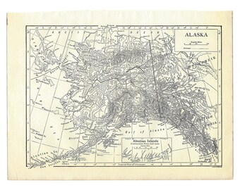 Alaska, Instant Download Pre-World War I 1910: Monochrome, Anchorage, Juneau, Fairbanks, Ketchikan, Kodiak, Aleutian 20 megapixels