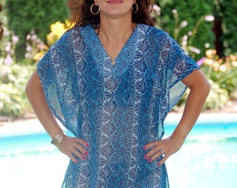 Caftan Cover-Up Sewing Pattern - PDF Instant Download Sale - 5 DOLLARS - Easy to follow instructions - Cruise wear - Great look on all sizes