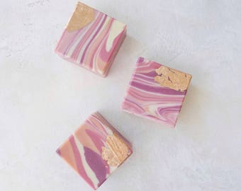 Artisan Soap, Soap Bar, Soap, Natural Soap, Gift For Her, Bridal Shower, Peach Blossom, Marble Soap, Gem Soap