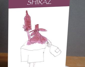 funny 'shiraz' greeting card from Tony Fernandes