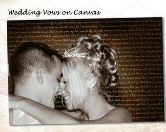 Wedding Vows Art Canvas