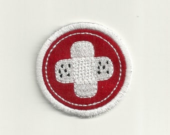 "2"" First Aid Merit Badge, Patch! Custom Made!"