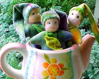 Pocket Leaf Babies, Waldorf 5 inch doll