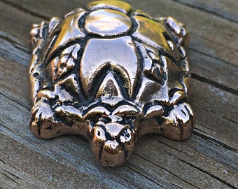Copper Turtle Figurine