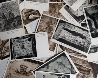 Collection of 20 postcards of 1933 from the Catacombs of Rome
