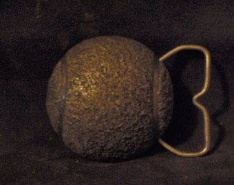 Tennis ball buckle/ pewter