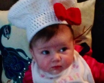 Baby Chef Hat Photo Prop - Sizes Available in Newborn - 12 mos
