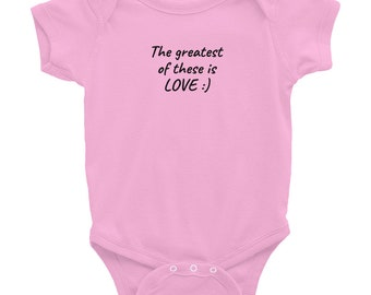 Love Infant Onesie Different Front Back Baby gift Baby Shower