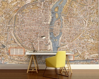 Old world map wallpaper old map wall mural vintage world paris map wall mural paris wall mural vintage old map vintage paris map gumiabroncs Images