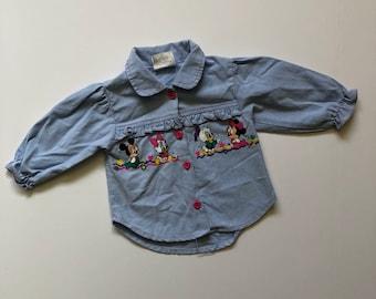 Vintage Disney Babis Chambray Shirt (12 months)