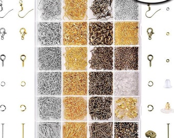 A 2880 Pcs Jewelry Making Findings Supplies Kit