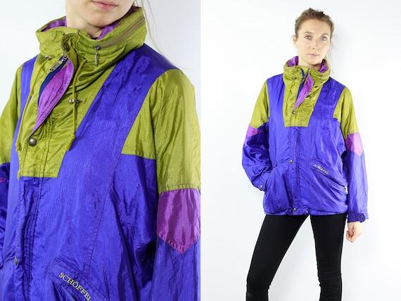 Vintage Windbreaker / Vintage Shell Jacket / Vintage Track Jacket / Vintage Sport Jacket / Retro Jacket / Schöffel Jacket / Windbreaker 80s