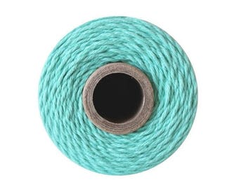 Teal Bakers Twine - Solid Caribbean Blue - 240 Yard Spool