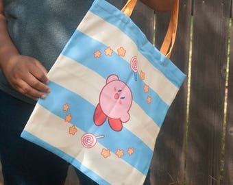 Kirby Striped Zipper Tote Bag